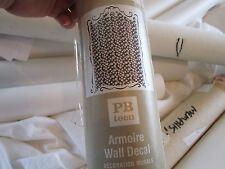 "Pottery Barn Teen Armoire sure Stripe panels 50 X 74""  New"