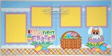 CraftEcafe Premade Scrapbook Pages Paper Piecing Baby Easter Bunny BLJgraves 5