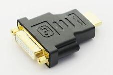 DVI 24+5 Femelle vers HDMI Male Adaptateur connectique or pour PC Laptop HDTV TV