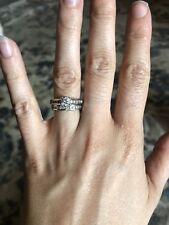3/4 Carat Diamond (Size 5) Zales White Gold Bridal Set with