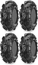 Four 4 Maxxis Mudzilla ATV Tires Set 2 Front 28x10-12 & 2 Rear 28x10-12