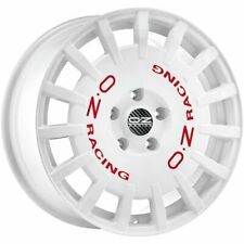 OZ RACING RALLY RACING RACE WHITE RED LETTERING ALLOY WHEEL 18X7.5 ET48 5X100