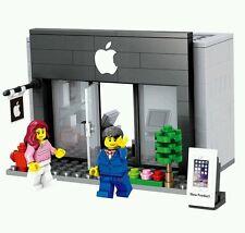 City scene Apple store minifigures bricks building blocks construction lego