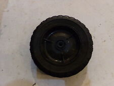 "SOLID TIRE WITH PLASTIC RIM 7-1/2"" DIA. 1-3/4"" WIDE 3/8"" CENTER RIM HOLE DIA."