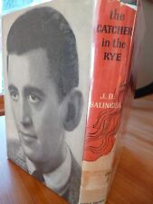 FIRST EDITION (BOMC) J. D. Salinger THE CATCHER IN THE RYE w/dust jacket photo!!