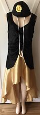 Womens Plus Flapper Costume New 1X Gatsby XL 14 16 Roaring 20s Halloween NWT