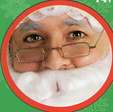 Rubies 427 Square Santa Claus Glasses Clear Lens Wire Rims Ben Franklin O/S Gold