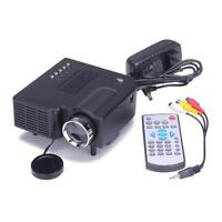 HD 1080P LED Multimedia Mini Projector Home Theater VGA HDMI USB Video Cinema