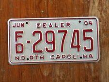 License Plate Tag North Carolina NC Dealer 2004 FD 29745 Vintage Rustic USA