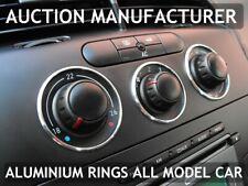 Seat Leon II 1P 2005-2012  Aluminium Chrome Heater Control Rings Surrounds x3