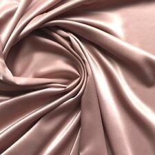 Satin Fabric in Vintage Dusky Pink Lingerie Bridal Dressmaking Fabric - METRE