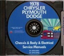 CHRYSLER 1978 Cordoba, Newport, New Yorker & LeBaron Shop Manual CD