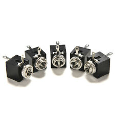 New 5Pcs PCB Panel Mount 3.5mm Female Earphone Jack Socket Connector Black NIBB