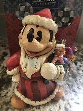 Jim Shore Toys to the World Disney Mickey Mouse Santa Holiday 4027922