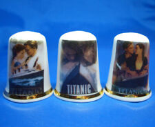 Birchcroft China Thimbles -- Set of Three -- Titanic Film Posters