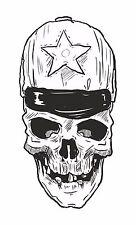 Skull Sticker for Motorcycle Gas Tank Car Bumper Laptop Tablet Book Door PC #14