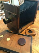 Antique View Camera Grass & Wolff Folding Wooden Circa 1800's