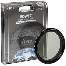 Bower 58mm Variable Neutral Density Filter, 2 to 8 Stops