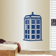 Wall Vinyl Decal Tardis Doctor Who Phrase Words Police Box Wall Sticker 259