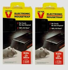 2 VICTOR Electronic Mouse Trap No Touch Reusable Battery Pest Control M250S NEW!