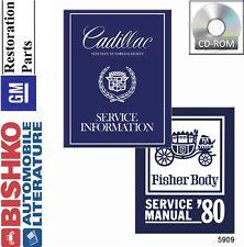 1980 Cadillac Seville Fleetwood Shop Service Repair Manual CD Engine Drivetrain