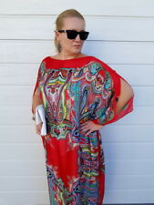 Green SILK Kaftan Plus Size Maxi Beach Caftan Resort Wear