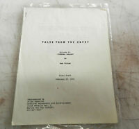 Tales from the Crypt * 1991 Original TV Script * Episode # 6 * Funeral Pallor*