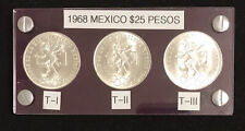 1968 Mexico 25 pesos Olympics Types I, 2 And 3