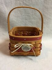 Longaberger (2000) Tree Trimming - Let It Snow Basket with Moveable Handle
