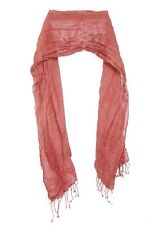 Burgundy Mature Lady Interesting Colourful Show Stopper Scarf (s36)