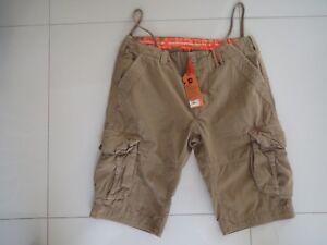 Superdry Men's Legion Beige Slim Core Cargo Lite Shorts -  Size: S