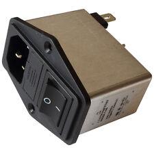 Schaffner FN284-1-06 Netzfilter 250V AC 1A IEC Inlet-Filter Fuse Switch 855206