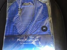 Mens Champion Poly Cotton Checked Pyjama Set Nightwear Size L-xl-2xl Dark Blue Large