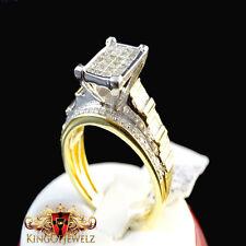 10K GOLD WOMENS PRINCESS CUT AAA DIAMOND ENGAGEMENT BRIDAL WEDDING BAND  1.00 CT