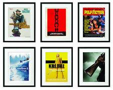 Quentin Tarantino Movie Posters FRAMED Pulp Fiction, Django, Kill Bill