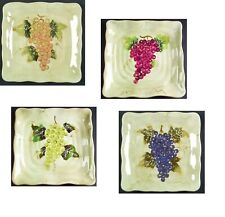 Cabernet Dinner Serving Plate Tabletops Unlimited Hand Painted Collection Multi