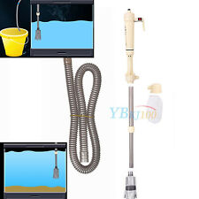 Tank Aquarium Fishes Syphon Électrique  Gravel Vide Pompe Aspirateur Nettoyage