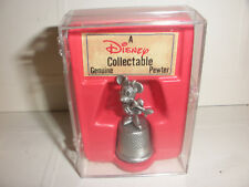 Vintage Disney Collectible Genuine Pewter Minnie Mouse Thimble in Box