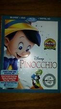 Disney Pinocchio (Blu-ray/DVD, 2017, 2-Disc Set, Includes Digital Copy)