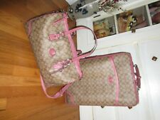 Coach Luggage Set Suitcase & Carry-on Bag
