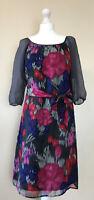 MONSOON Silk Summer Dress Womens UK 10