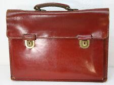 alte Aktentasche, Ledertasche, Schultasche, Schulranzen, Leder rot
