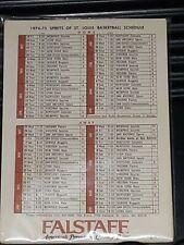 1974-75 SPIRIT OF ST. LOUIS KMOX RADIO 1120-TV NEVER FOLDED POCKET SCHEDULES.