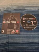 NFL Head Coach 09 Sony Playstation 3 PS3 System Game And Manual Only