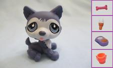 Littlest Pet Shop#785 Purple Husky Dog Teardrop Puppy+1 FREE Access.  Authentic
