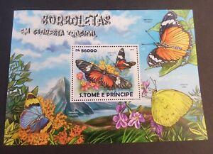 St Thomas & Prince Island 2015 Tropical Butterflies  Butterfly  MS MNH UM
