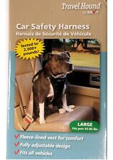 Travel Hound Large Dog Car Automobile Safety Harness Fleece Lined Vest 45-85 lbs