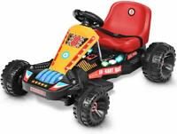 Pedal Powered Ride Go Kart Car Kids Ride for Boys & Girls ADJUSTABLE SEAT