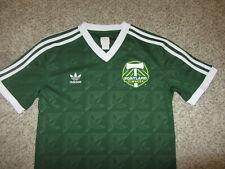 Vintage Portland Timbers Green Adidas MLS Soccer Jersey S Small Retro Rare