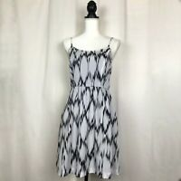 KENSIE Spring & Summer Dress Spaghetti Straps Black White Women's Size XS